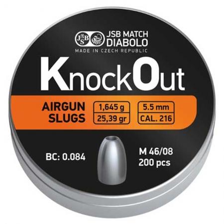 JSB Knockout Slugs   .216 Caliber  5.5mm